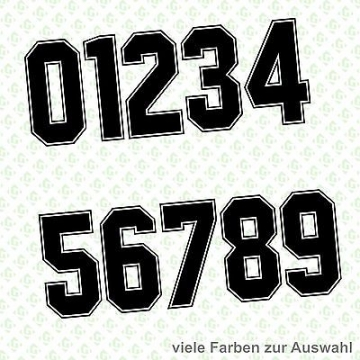 Aufkleber Startnummer Zahlen